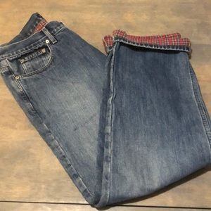 J.Crew lined jeans.